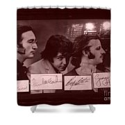 The Beatles In Old Photo Process At Fudruckers Shower Curtain