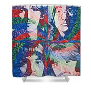 The Beatles Squared Shower Curtain