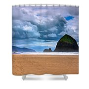 The Beautiful Cannon Beach Shower Curtain