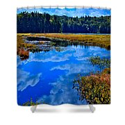 The Beautiful Cary Lake - Old Forge New York Shower Curtain