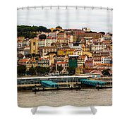 The Beautiful Colors Of Lisbon Shower Curtain