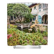 The Beautiful Courtyard Of The Pacific Asia Museum In Pasadena. Shower Curtain