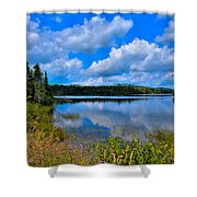 The Beautiful Lake Abanakee New York Shower Curtain