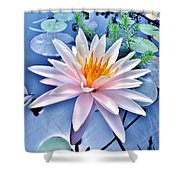 The Beautiful Lily Pond Shower Curtain