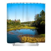 The Beautiful Moose River In Old Forge New York Shower Curtain