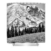 The Beautiful Mount Rainier At Sunrise Park - Washington State Shower Curtain