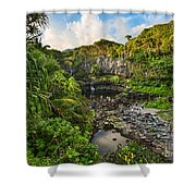 The Beautiful Scene Of The Seven Sacred Pools Of Maui. Shower Curtain