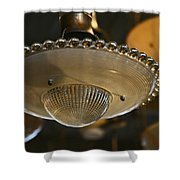 The Beauty Of A Vintage Glass Ceiling Light Shower Curtain