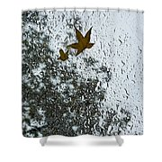 The Beauty Of Autumn Rains - A Vertical View Shower Curtain