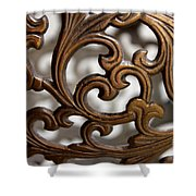 The Beauty Of Brass Scrolls 2 Shower Curtain