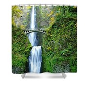 The Beauty Of Multnomah Falls Shower Curtain