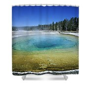 The Beauty Pool Yellowstone Np Wyoming Shower Curtain