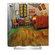 The Bedroom Of Van Gogh At Arles Shower Curtain
