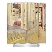 The Bedroom, Published In Lasst Licht Shower Curtain