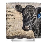 The Beef Industry Shower Curtain