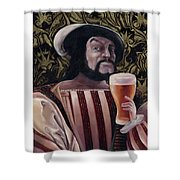 The Beer Drinker Shower Curtain