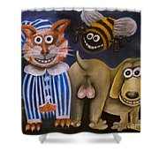 The Bees Knees The Cats Pyjamas And The Dogs Bollocks Shower Curtain