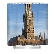 The Belfry Of Bruges Shower Curtain