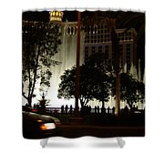 The Bellagio At Night Shower Curtain