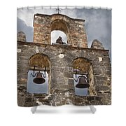 The Bells Of Espada Shower Curtain