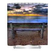 The Bench II Shower Curtain
