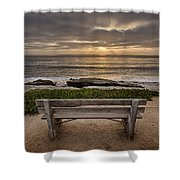 The Bench IIi Shower Curtain