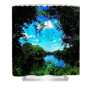 The Bend At Bristol Shower Curtain