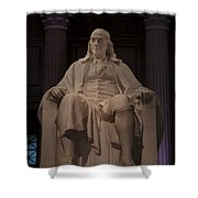 The Benjamin Franklin Statue Shower Curtain