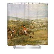 The Berkeley Hunt, Full Cry, 1842 Shower Curtain