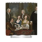 The Bermuda Group, Dean Berkeley And His Entourage, 1728 Shower Curtain