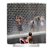 The Best Little Water Park In Chicago Shower Curtain