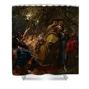 The Betrayal Of Christ Shower Curtain by Anthony Van Dyck