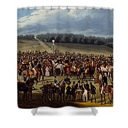 The Betting Post, Print Made By Charles Shower Curtain