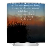 The Bible John Three Eight Shower Curtain