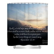 The  Bible Revelation 21 Shower Curtain