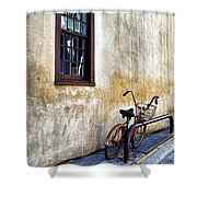 The Bicycle Shower Curtain by Deborah Benoit