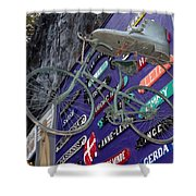 The Bicycle Peddler Shower Curtain