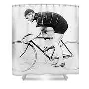 The Bicyclist - 1914 Shower Curtain