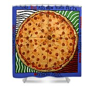 The Big Ass New York Pizza Shower Curtain by Anthony Falbo