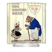 The Big Brown Bear Shower Curtain