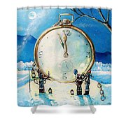 The Big Countdown Shower Curtain