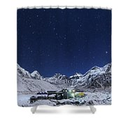 The Big Dipper Rise Above The Himalayas Shower Curtain