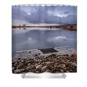 The Big Drain Shower Curtain