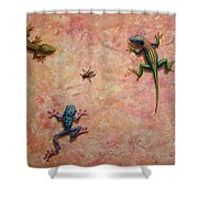 The Big Fly Shower Curtain by James W Johnson