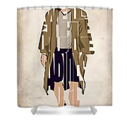 The Big Lebowski Inspired The Dude Typography Artwork Shower Curtain by Ayse Deniz