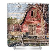 The Big Red Barn Shower Curtain