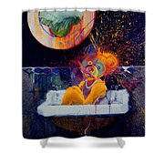 The Big Wash Shower Curtain