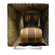 The Biltmore Estate Wine Barrels Shower Curtain