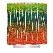The Birches Shower Curtain