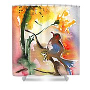 The Bird And The Flower 01 Shower Curtain